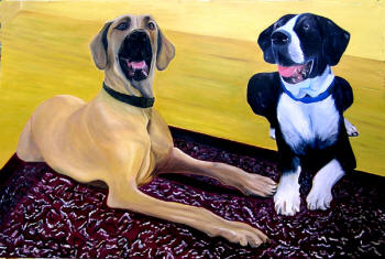 """Ava & Bentley"" - oil on canvas - 36"" x 24"""