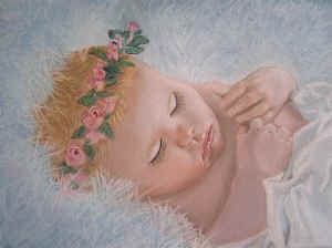 Baby Angel - Pastel Painting by Margo Kelley