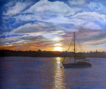 Just the Sunset and Me - Pastel Painting by Margo Kelley