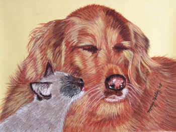 Brooke&Sage - Pastel painting by Margo Kelley
