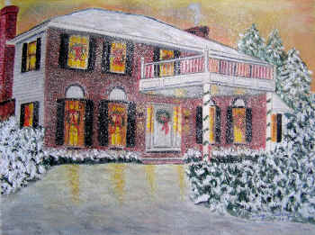 Christmas in New England - Pastel Painting by Margo Kelley