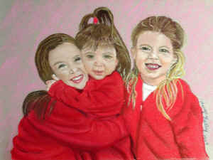 Sisters - Pastel Painting by Margo Kelley