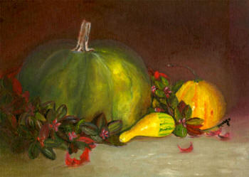 Autumn Harvest - oil painting by Margo Kelley