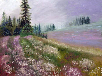 Field of Flowers - Oil Painting by Margo Kelley