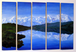 'Mt Denali' - Oil on Panel by Margo Kelley