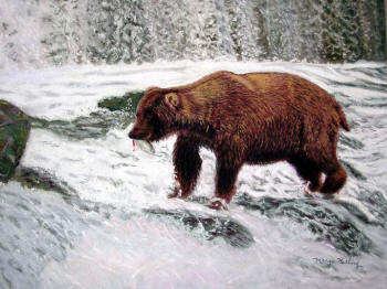 Alaskan Feast - Award-winning Pastel Painting by Margo Kelley