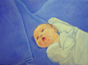 PJ - Oil on Canvas by Margo Kelley
