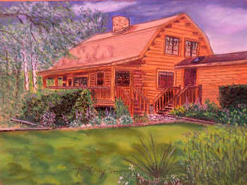 Rustic Charm - Pastel Painting by Margo Kelley