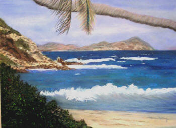 'Shipwrecked' - a pastel painting by Margo Kelley