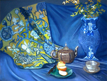 Tea Time - Pastel painting by Margo Kelley
