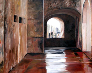 """Fort el Cristobal, San Juan"" - Oil on Canvas by Margo Kelley"
