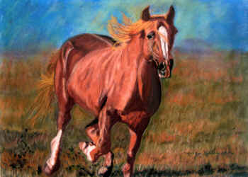 Running Free - Pastel painting by Margo Kelley